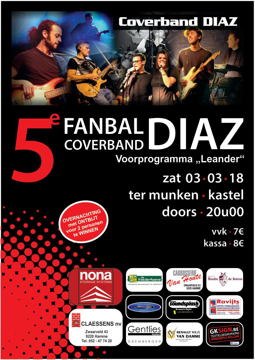 Affiche fanbal coverband DIAZ 2018
